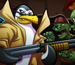Онлайн игра Zombies Vs Penguins 3.