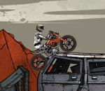 Онлайн игра Wasteland Bike Trial.